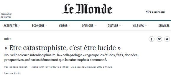 Le Monde Collapsologie